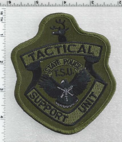 State Police Tactical Support Unit (Vermont) 1st Issue Camo Shoulder Patch