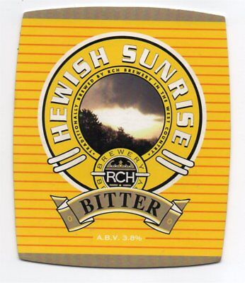 Beer pump clip front. R.C.H. Brewery, HEWISH SUNRISE, Bitter for sale  Burnley