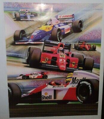 RARE Goodyear Canon Marlboro Ferrari Formula One Poster 28 x 22