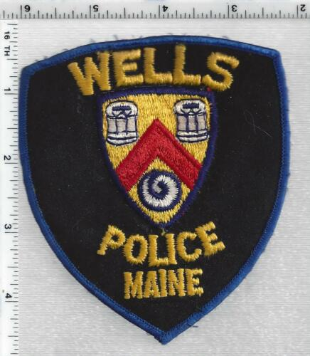 Wells Police (Maine) 3rd Issue Shoulder Patch