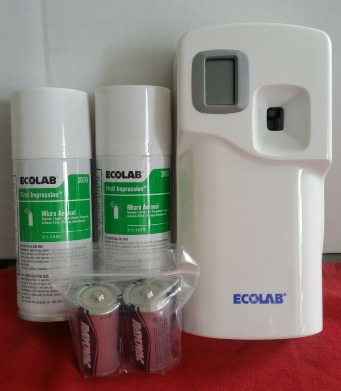 Ecolab First Impressions Aerosol Programmable Dispensor with 2 canisters