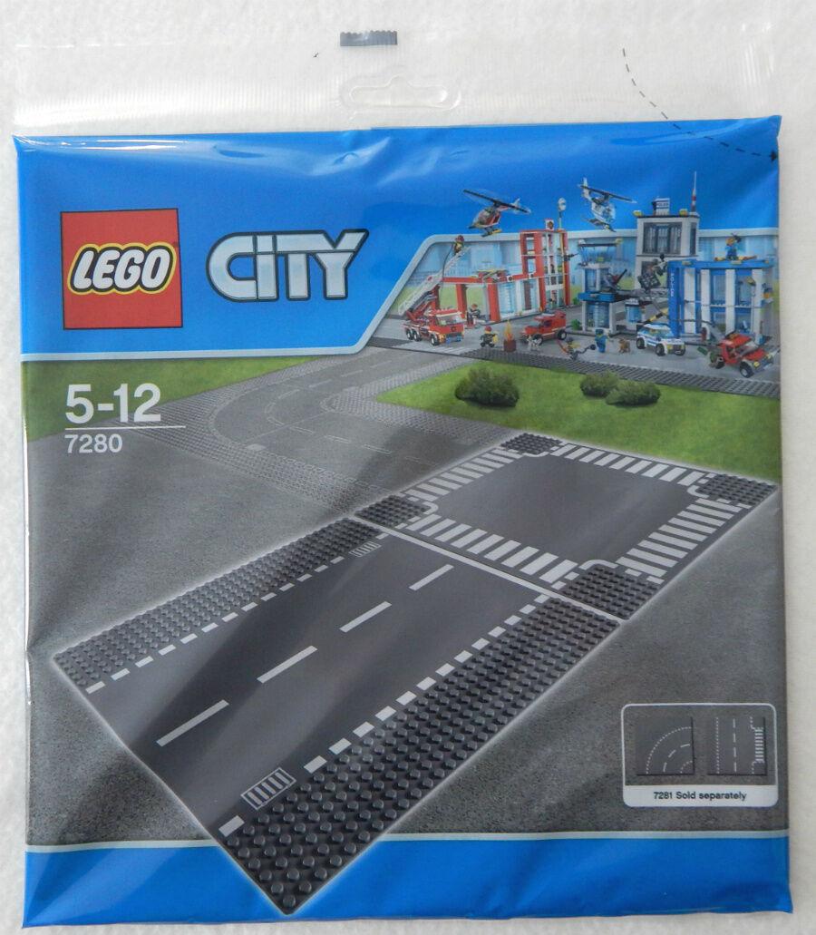 NEW LEGO STRAIGHT & CROSSROAD BASEPLATE SET 10x10 inch base