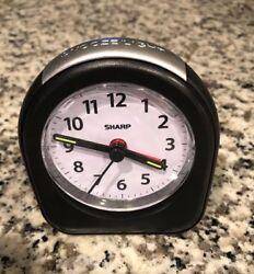 Sharp SPC844 Travel Alarm Clock Snooze Battery Operated Glows in Dark