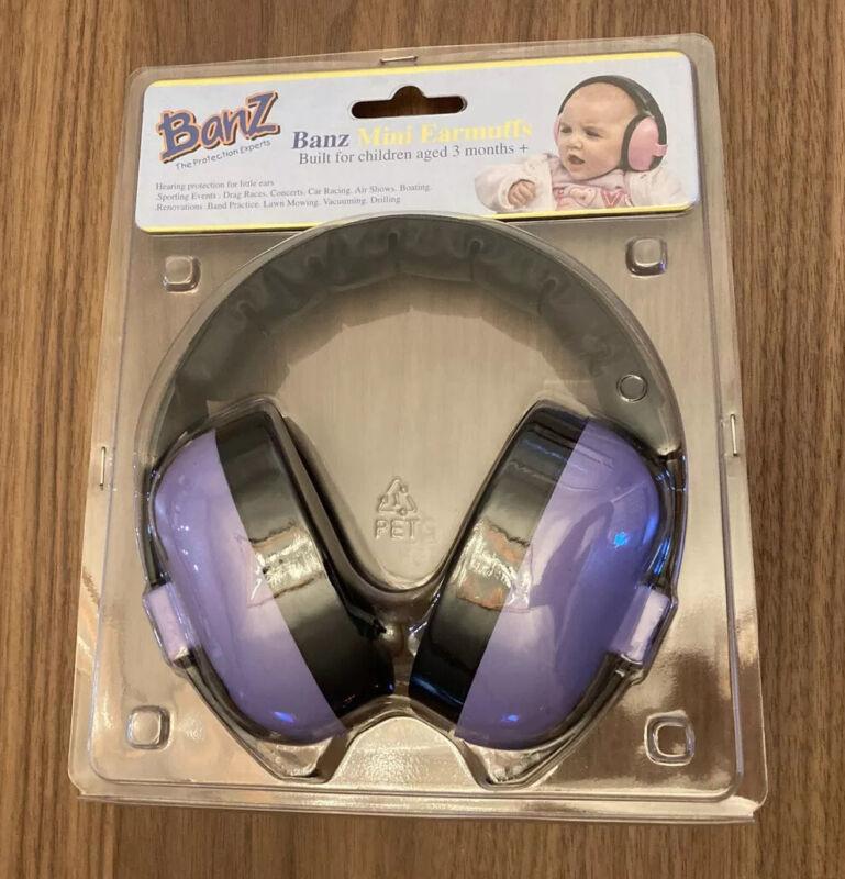EUC BABY BANZ Mini NOISE EARMUFFS KIDS 3 MOS. OLD & UP Purple used 2x