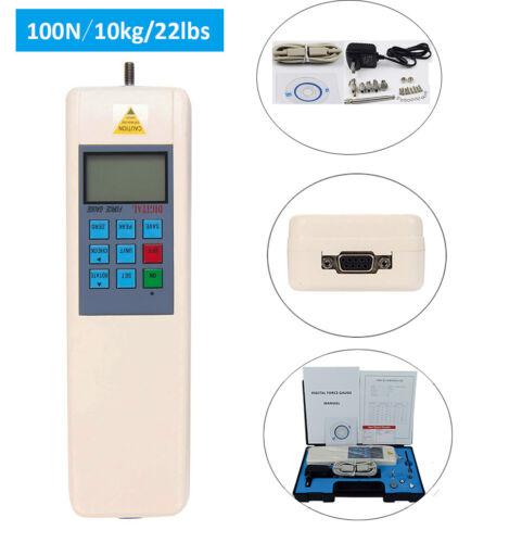 Digital Force Gauge Pull Push Meter Dynamometer Tools 100N/10kg/22 lbs RS232