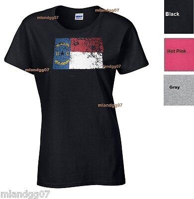 Adult Sizes Womens T Shirt North Carolina Flag Women Shirt