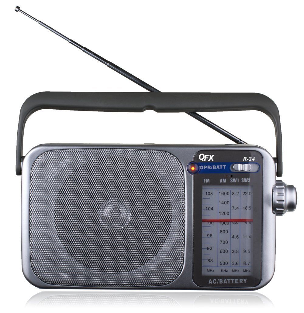BRAND NEW QFX R-24 Portable AM/FM/SW1-SW2 Radio