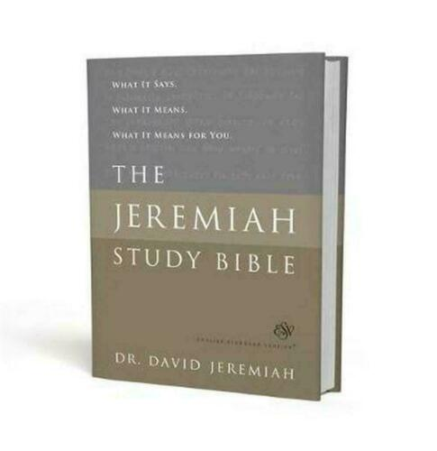 The Jeremiah Study Bible, ESV, Black LeatherLuxe (Indexed): What It