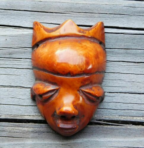 Large Antique African Pende Tribe Ikhoko Pendant