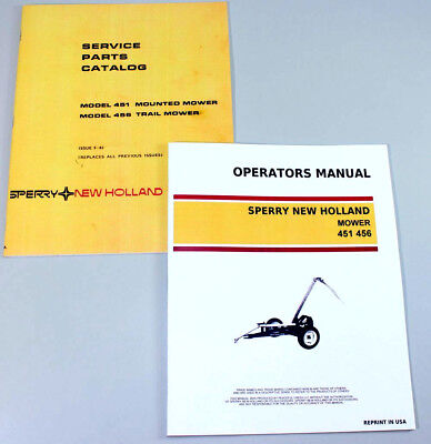 Set New Holland 451 456 Sickle Bar Mower Service Owners Operators Parts Manual
