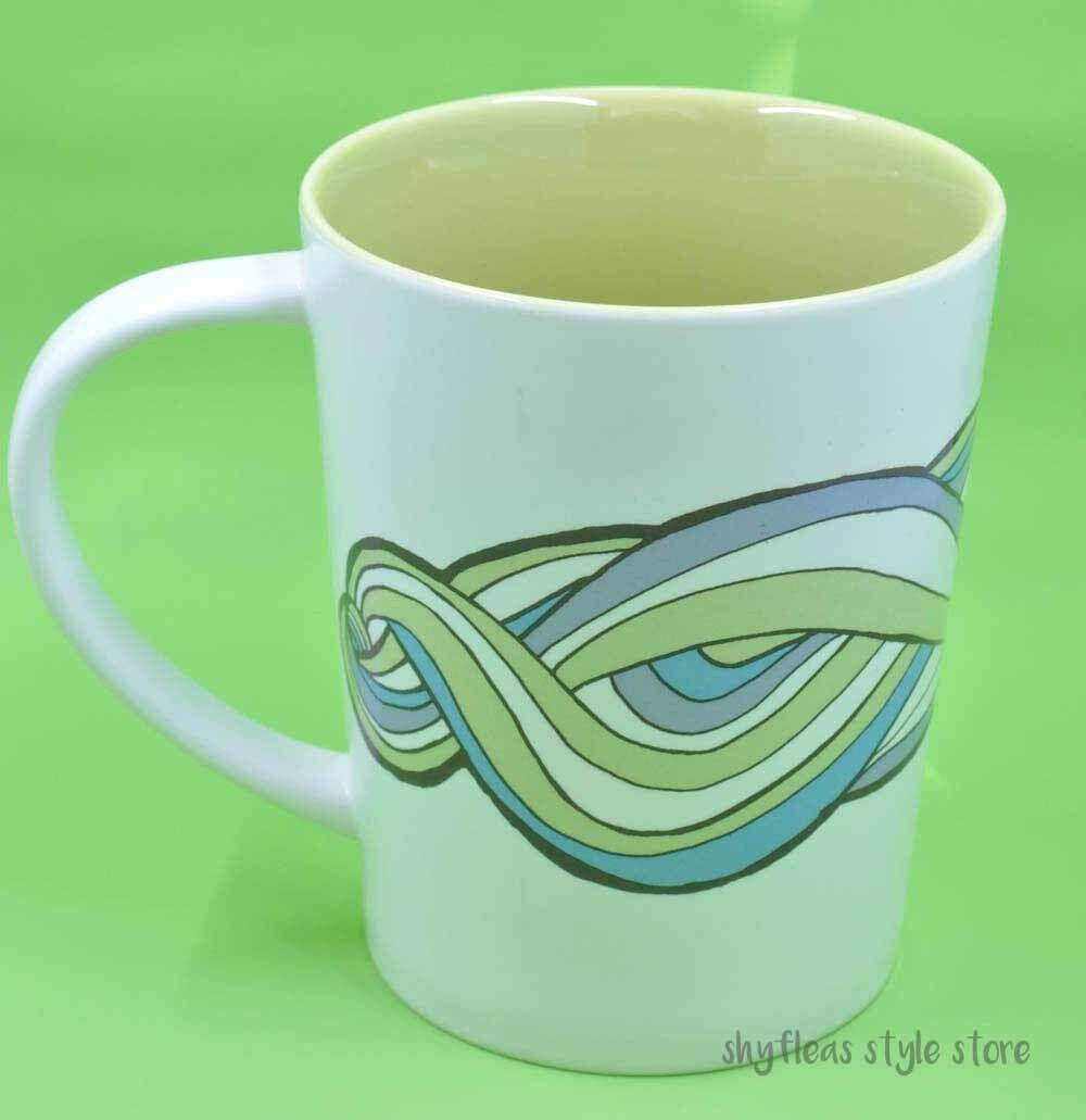 Starbucks Waves Swirl Coffee Mug Large Mug 20 Oz 2010 New