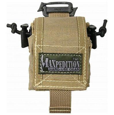 New Authentic Maxpedition Rollypoly Folding Mini Dump Pouch TacTie Khaki 0207K