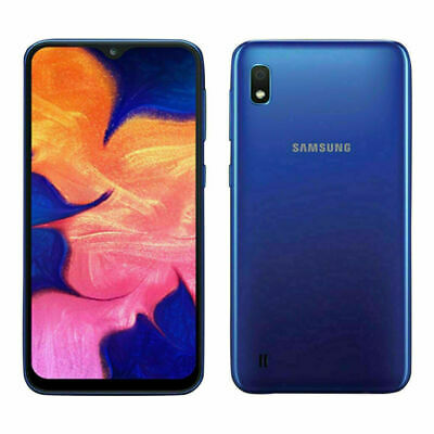 New Samsung Galaxy A10 - 32GB - Blue (Unlocked) (Dual SIM) Android...