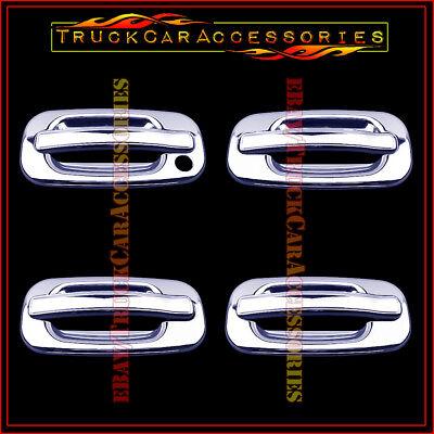 For GMC Yukon 2000 2001 2002 2003 2004 2005 2006 Chrome 4 Door Handle Covers W/O