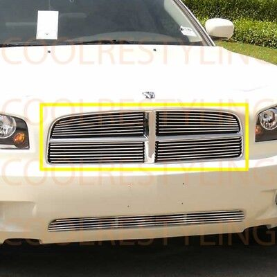 Billet Style Grill Shell - For Dodge Charger 05-10 Upper Billet Grille (For Honey-Comb Styled Shell)