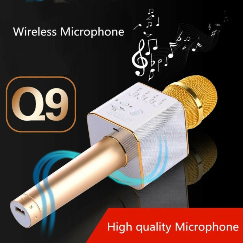Upgrade Q9 Wireless Handheld KTV Mic Speaker Bluetooth Karaoke Microphone Player