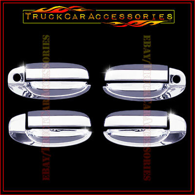 For CHEVY Aveo 2002-2011 + Kalos 02-2009 Chrome 4 Door Handle Covers WITH PK