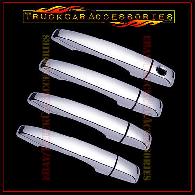For CADILLAC CTS 2008-2011 2012 2013 Chrome 4 Door Handle Covers W/OUT P Keyhole