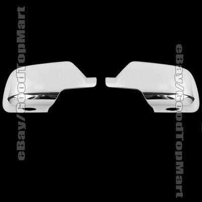 For 2015 2016 Cadillac ESCALADE ESV 2 FULL Chrome Mirror Covers Mirrors Pair 2PC