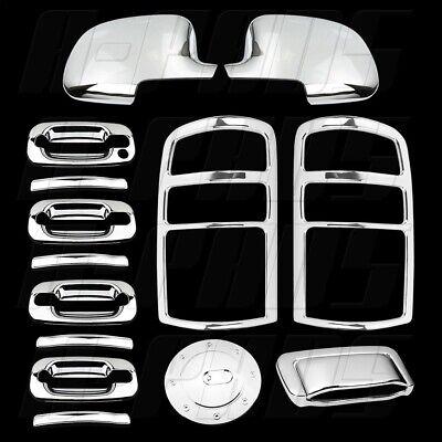00-06 GMC Yukon Chrome Covers Mirror Door Handle Tailgate Taillight Gas 06 Chrome Door Handle Covers