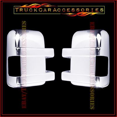For FORD F250 F350+Super Duty 2008-2014 2015 2016 Chrome Mirror Covers w/ Signal