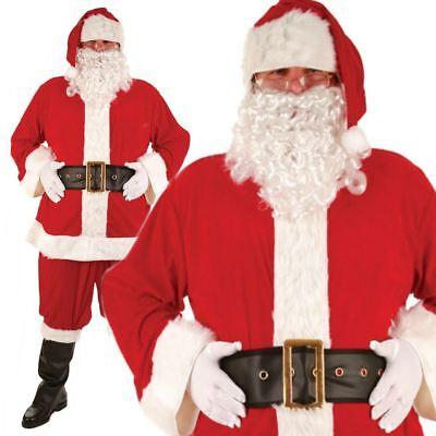 Adult Super Deluxe Santa Suit Father Christmas Xmas Fancy Dress Costume - Super Santa Kostüm