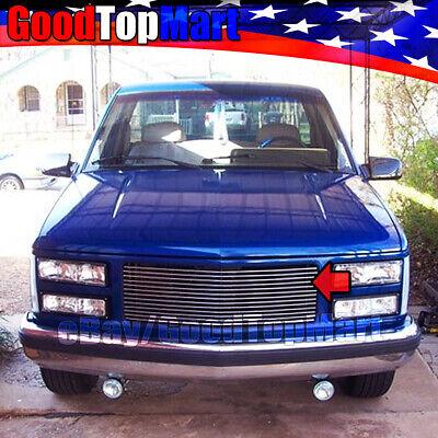 For GMC C/K 1500/2500/3500 1988 89 90 91 92 1993 Upper billet Grille 1PC cutout Gmc K1500 Billet Grille