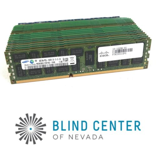 Lot of 24 Samsung / Nanya 4gb PC3-1600R  Ram Mixed Brand  Server ram