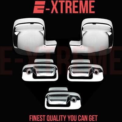 FOR GMC 03-15 Savanna 3DRS handle w/keyhole+2pc Full mirror CHROME COVERS
