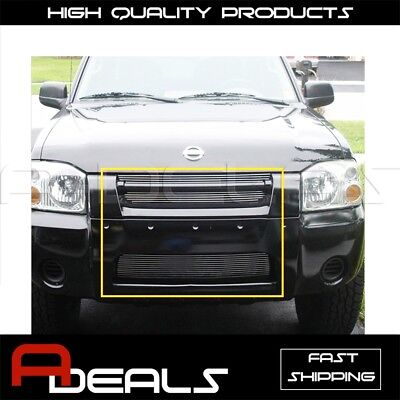 Nissan Frontier Grille Insert - FOR NISSAN FRONTIER 2001 02 03 04 UPPER BUMPER BILLET GRILLE GRILL INSERT COMBO