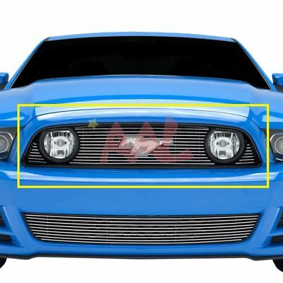Ford Logo Cut Out - AAL 2013 2014 Ford Mustang Gt Upper Billet Grille Insert (With Logo Cut-Out)