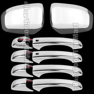 For Dodge DURANGO 2011 - 2016 Chrome Covers Combo 4 Door Handles+Mirrors