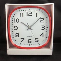 10 Red Home Decor Quartz Wall Clock Retro Classic Square Face Style