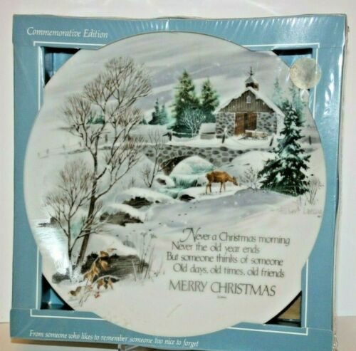 Robert Laessig Plate Winterscene Series II Commerative Edition Plate Christmas