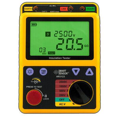 Smart Sensor Ar3123 2500v High Voltage Insulation Resistance Tester Polarization