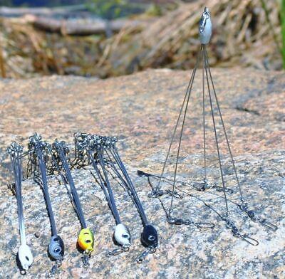 5 Arms Alabama Umbrella Rig Fishing Bass Lures Baits Hooks Kit UK Stock
