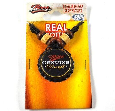 Miller Genuine Draft Beer Bier Kronkorken Halskette USA Bottle Cap Necklace ()