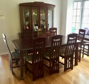 Dining room tables and chairs (with hutch)