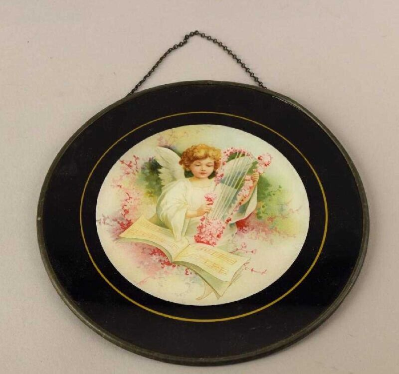Victorian Angel and Harp Flue Cover