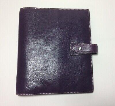 Filofax Purple Malden A5 Leather Organizer 2015 Inserts Pages
