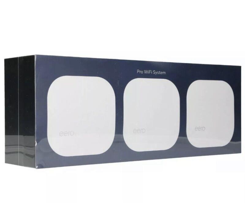 🟢NEW! eero PRO ✅WiFi System (3 eeros) 2nd Generation White B010301 ✅ SEALED 🟢