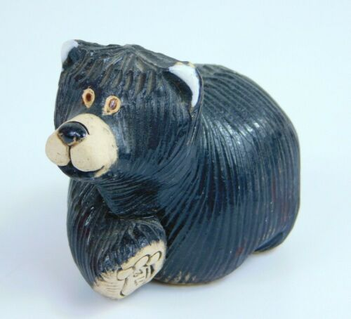 Artesania Rinconada Walking Black Bear #157 Retired Animal Uruguay Figurine