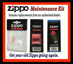 ZIPPO-LIGHTER-REFURBISHMENT-PACK-FLINTS-WICK-COTTON-WADDING-GENUINE-SPARES