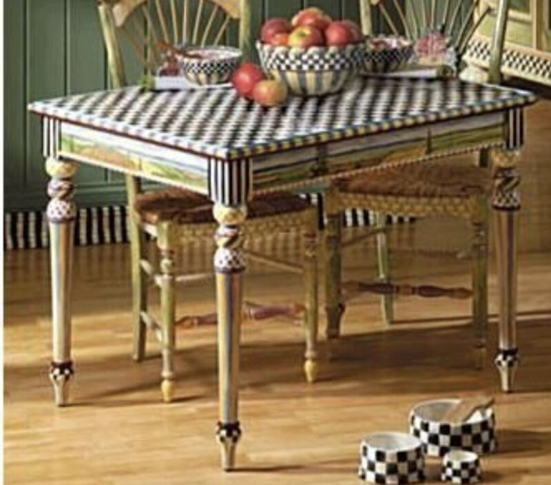 Rare Mackenzie Childs Piccadilly Table - Delivery available