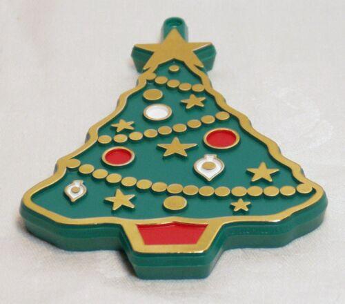 Hallmark Vintage Painted Plastic Cookie Cutter - Decorated Christmas Tree