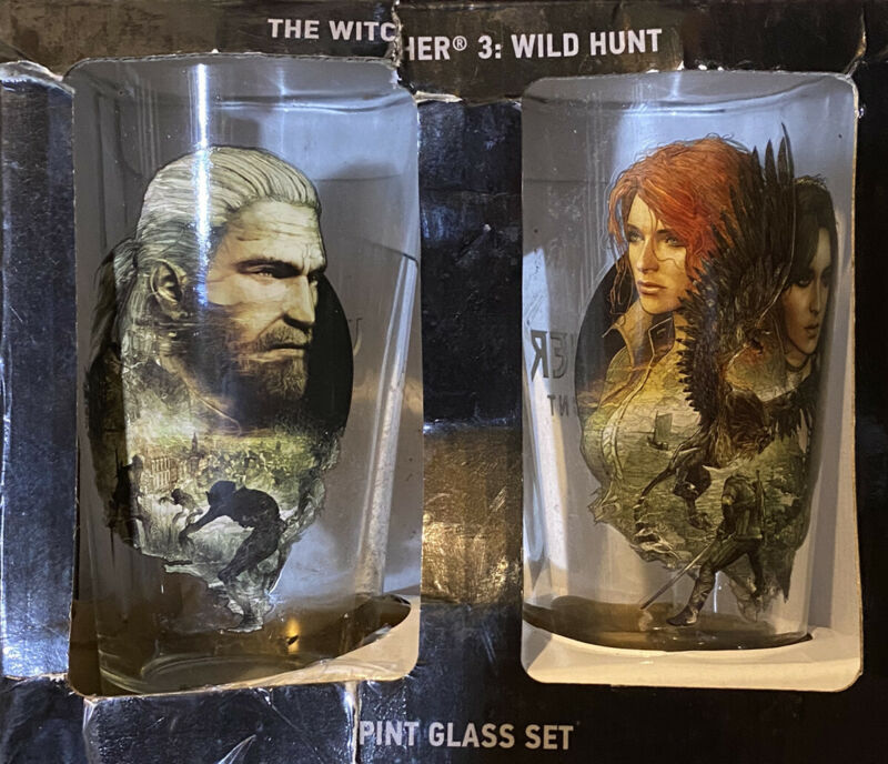 The Witcher 3: Wild Hunt Pint Glass Set of 2