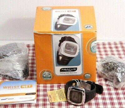 NEW in Box!  FOSSIL ABACUS Wrist Net (MSN Direct) PDA Watch (AU4002) Black