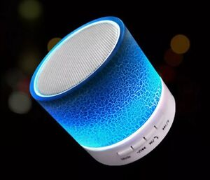 Mini Portable Bluetooth Speaker, comes in Blue or Red.