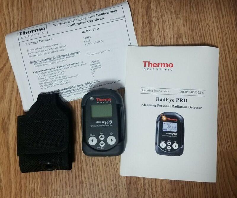 Thermo RadEye PRD High-Sensitivity Personal Radiation Detector w/ Calibration