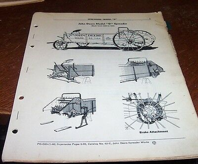 John Deere Model D  Manure Spreater Parts Catalog Pc-c63